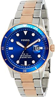 Fossil Analog Blue Dial Men's Watch-FS5654