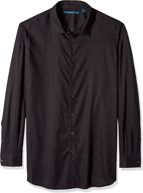 Perry Ellis Men's Essential Big and Tall Plaid Pattern Shirt