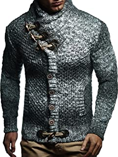 Leif Nelson Men Cardigan Jacket Shawl Collar LN-20738