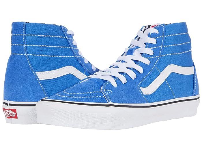 Mens Vintage Shoes, Boots | Retro Shoes & Boots Vans Sk8-Hitm Tapered DIY Nebulas BlueTrue White Shoes $55.99 AT vintagedancer.com