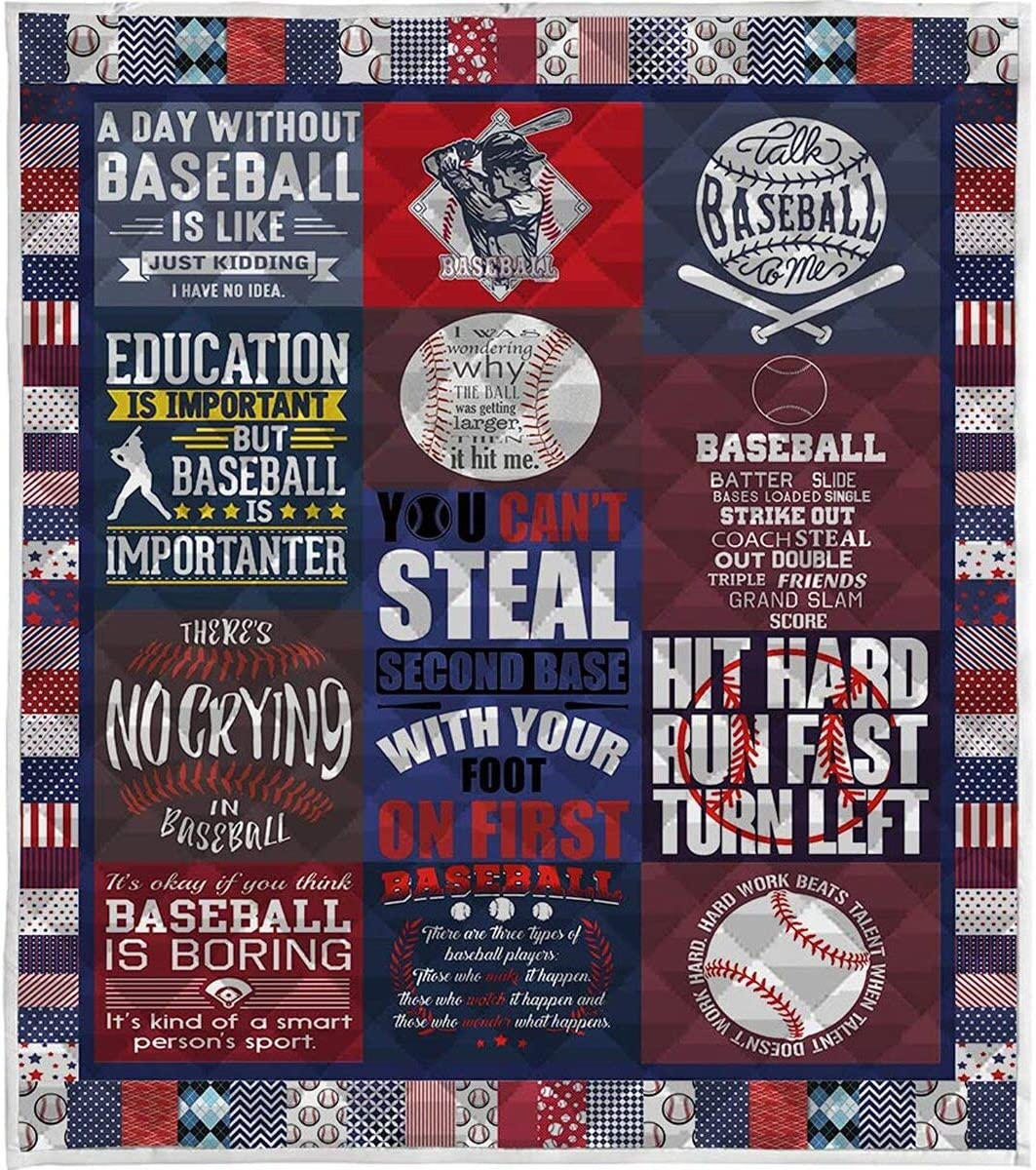 Personalized to Max 47% OFF My Favorite Baseball Quilt Valentine's In stock Day Gift