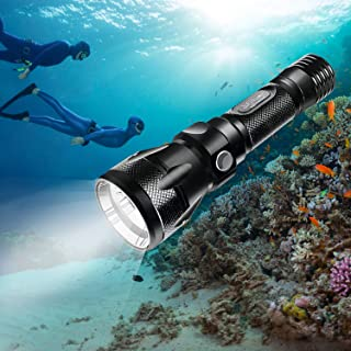 BlueFire Tauchen Taschenlampe, 1200LM XM-L2 LED Tauchlampe, Professionelle Helle..