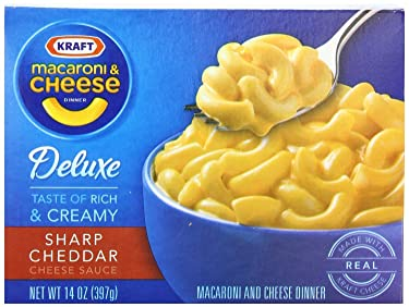 Kraft, Macaroni & Cheese, Deluxe Dinner, Sharp Cheddar, 14oz Box (Pack of 6)