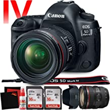 Canon EOS 5D Mark IV DSLR Camera with 24-70mm f/4L Lens (International Version) - 30.4 Megapixel - 4K Video with Pro Cleaning Kit Bundle