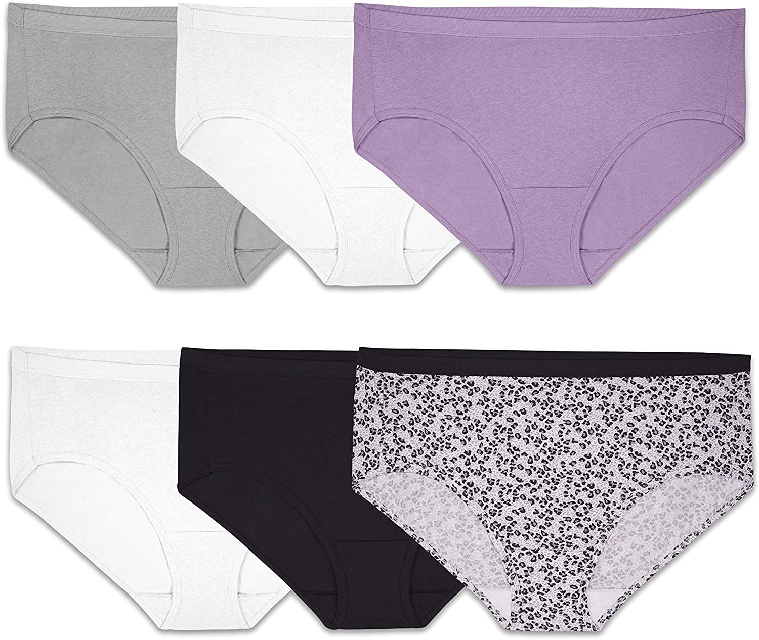 Fruit of the Loom Women's Tag Free Cotton Hipster Panties (Regular & Plus Size)