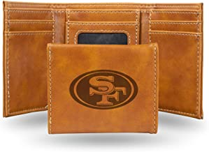 NFL Rico Industries Laser Engraved Trifold Wallet, San Francisco 49ers