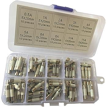 30A // 1-2 5-10 ou 20 pi/èces Fusible en Verre 5x20mm Rapide 250V 0,1A 1 pi/èce, 0,1A