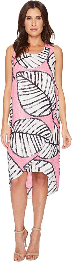 NIC+ZOE Etched Leaves Wrap Dress