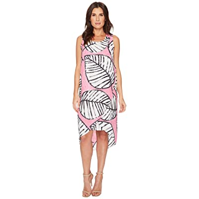 NIC+ZOE Etched Leaves Wrap Dress (Cactus Flower) Women