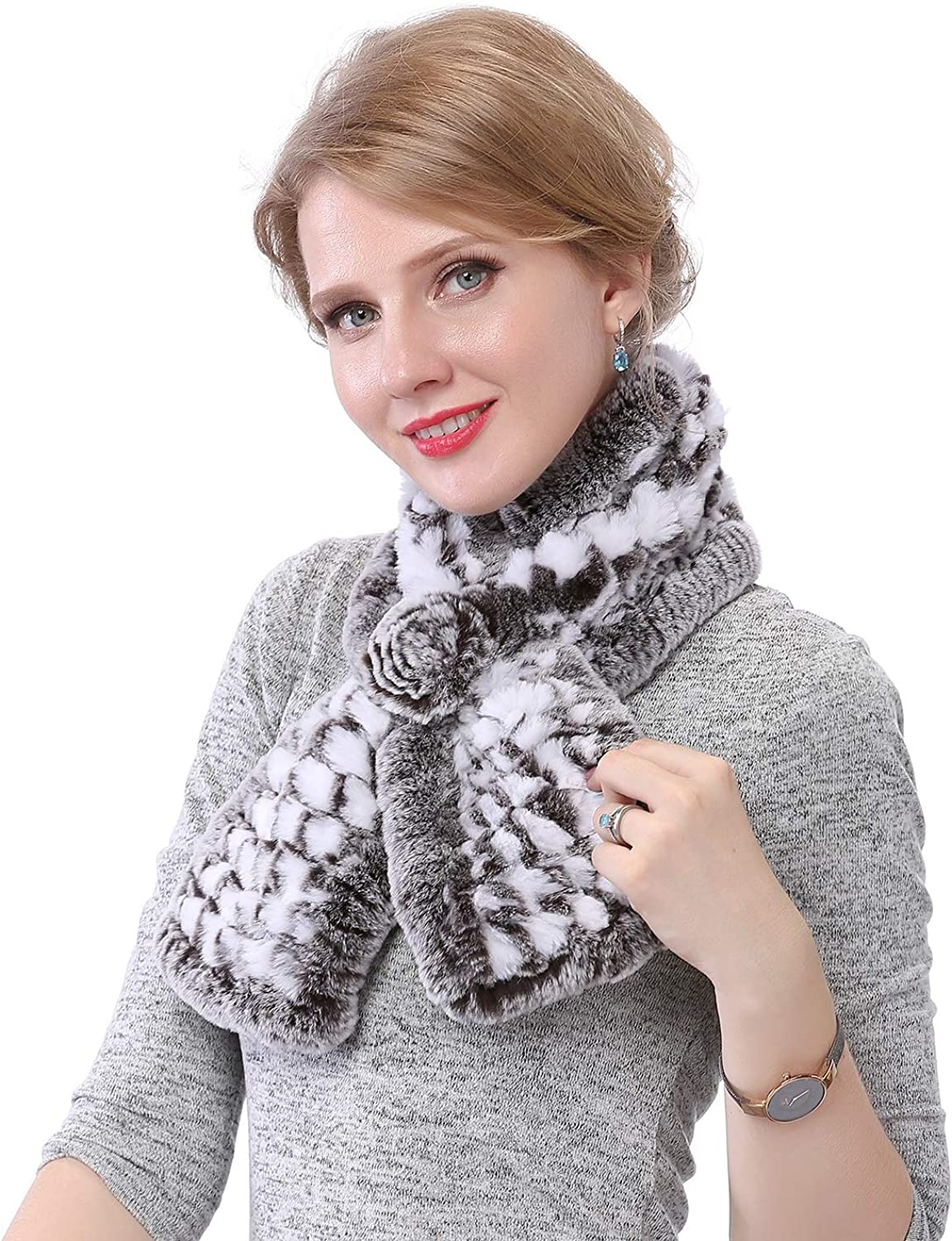 Max Dealing full price reduction 63% OFF NWSTESLE Winter Women Rex Rabbit Scarv Fur Real Fluffy Scarf