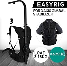VEVOR Easy Rig Stabilizer Vest Professional Camera Video Film Support System for 3 Axis Stabilized Handheld Gimbal Backpack Body Pod Steadycam Stabilizer 3kg - 18kg / 6.6lb - 39.7lb Load Capacity