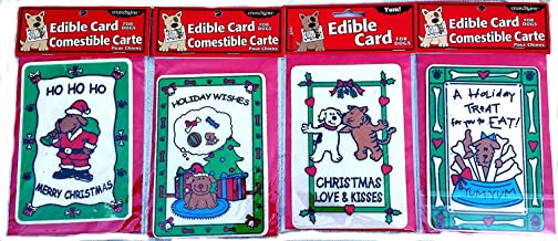 Crunchkins Edible Holiday Cards for Dogs (Bundle of 4)