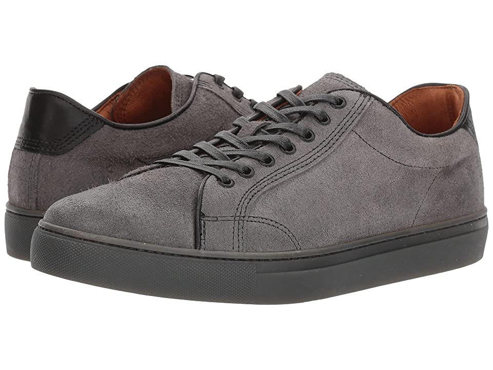 Frye Walker Low Lace (Charcoal Waxed Suede) Men's Lace up casual Shoes