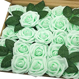 mint green artificial flowers
