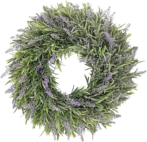 """lowest Lavender Wreath Easter Wreath Decor Artificial Purple Flower popular Wreath, Front Door Wreath Hanging Ornament for Indoor Outdoor Home Office Wall Wedding Holiday Decor, high quality 13"""" outlet online sale"""