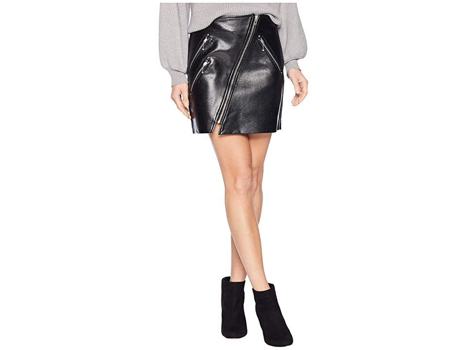 Blank NYC Vegan Leather Mini Skirt with Zipper Detail in House Party (House Party) Women