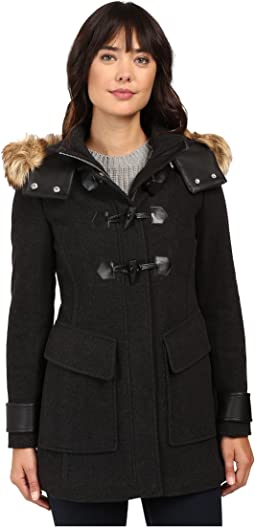"Paxton 30"" Wool Plush Toggle Faux Fur Coat"