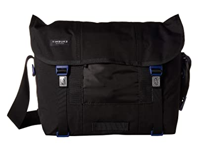 Timbuk2 Flight Classic Messenger Medium (Jet Black/Blue Wish) Messenger Bags