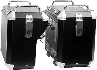 MyTech   Seitenkoffer, Motorradkoffer aus hochfestem Aluminium 47L/41L für originalen Träger – R1200 GS Adventure LC – R1250 GS Adventure – F850 GS Adventure (Schwarz)