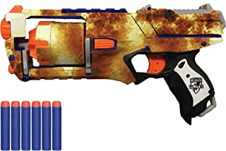 Blastr Wrapz - Strongarm Sticker Decals for Elite N Strike (1-Pack) Custom Toy Blaster Adhesive Vinyl Skin Upgrade Mod Gear; Kids, Teens, & Adults (Fire)