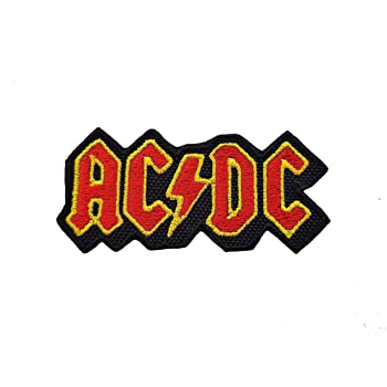 AC DC Heavy Metal Rock Embroidery iron sew on Patch Badge