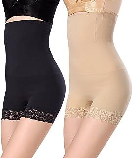 2c0760e5f2d WhiFan Mujer Braga Faja Reductora Braguitas Moldeadora Invisible para Faja  Pantalón Cintura Alta Body Moldeador Abdomen