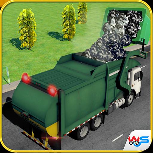 Metro City Garbage Truck Driving Simulator Game 2018: Dump truck Parking...