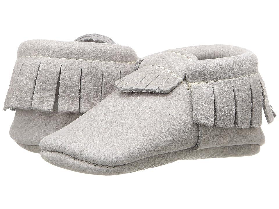 Freshly Picked Soft Sole Moccasins (Infant/Toddler) (Salt Flat) Kids Shoes