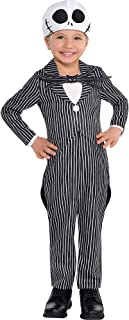 The Nightmare Before Christmas Jack Skellington Costume for Toddler Boys, Size 3-4T, Includes a Jumpsuit