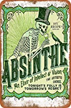 Dafony Absinthe Wall Metal Poster Retro Plaque Warning Tin Sign Vintage Iron Painting Decoration Funny Hanging Crafts for ...