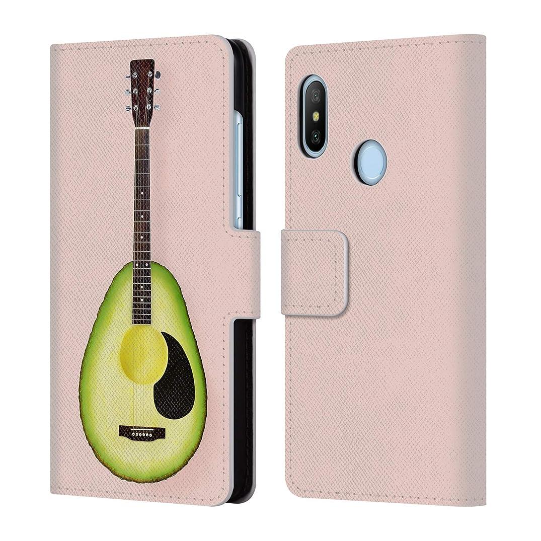 Official Paul Fuentes Avocado Guitar Pastels Leather Book Wallet Case Cover for Xiaomi Mi A2 Lite/Redmi 6 Pro