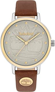 Timberland Sherburne Women's Analogue Quartz Watch with Grey Dial and Tan Leather Strap - TBL.15960MYTG-63