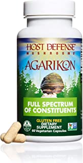 Host Defense - Agarikon Mushroom Capsules, Nutrient Rich Support for Health and Wellbeing, Non-GMO, Vegan, Organic, 60 Count