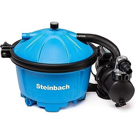 Steinbach Speed Clean Comfort Filtre à Sable Balles filtrantes incluses BIS 22.000 l Wasserinhalt Bleu