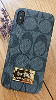 Gibbon iPhoneXS MAX - US Fast Deliver Guarantee FBA- New Elegant Luxury Designer PU Leather Monogram Style Cover Case for Apple iPhone Xs MAX ONLY (CO Badge Black)