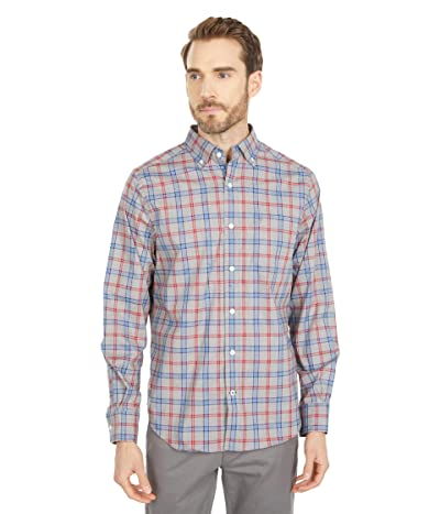 Nautica Classic-Fit Wrinkle-Resistant Plaid Shirt (Medium Grey Heather) Men