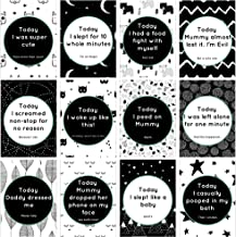 Eco Baby Planet Baby Milestone Cards - 24 Unique Cute & Funny Card Designs - Standard & Hilarious Milestones - Be different, Create Fun Memories - Perfect Gift for New Parents with a Sense of Humor