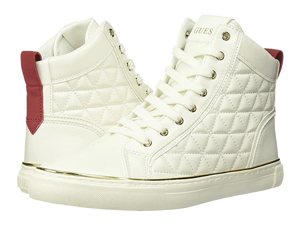 GUESS Melo (White Synthetic) Men