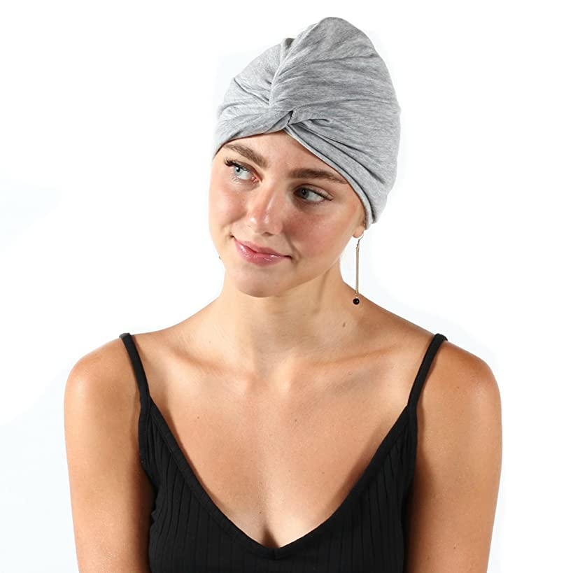 Pretty Simple Jersey Knit Comfortable Everyday Cap Headwear Turban Women Chemo, Cancer, Hairloss, Alopecia