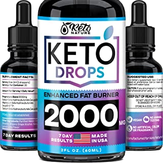 Keto Diet Drops with BHB Exogenous Ketones – Dietary Supplement Made in USA –..