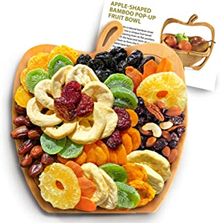 Apple Dried Fruit Gift Tray Turns into Fruit Basket, Dried Fruit & Trail Mix - Corporate Gifting, Holiday Gifting