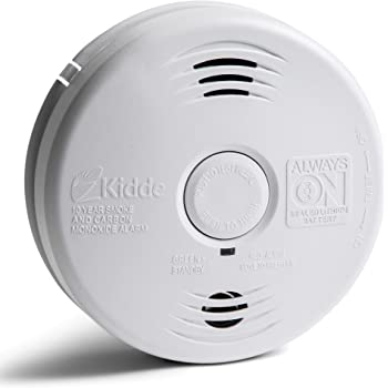 Kidde Smoke and Carbon Monoxide Detector Alarm with Voice Warning | Hardwired w/10 Year Lithium Battery Backup | Interconnectable | Model # i12010SCO, White