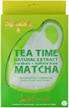 SpaLife 6 Pack Tea Time Face Mask - Natural Extract - paraben + Sulfate Free (Matcha)