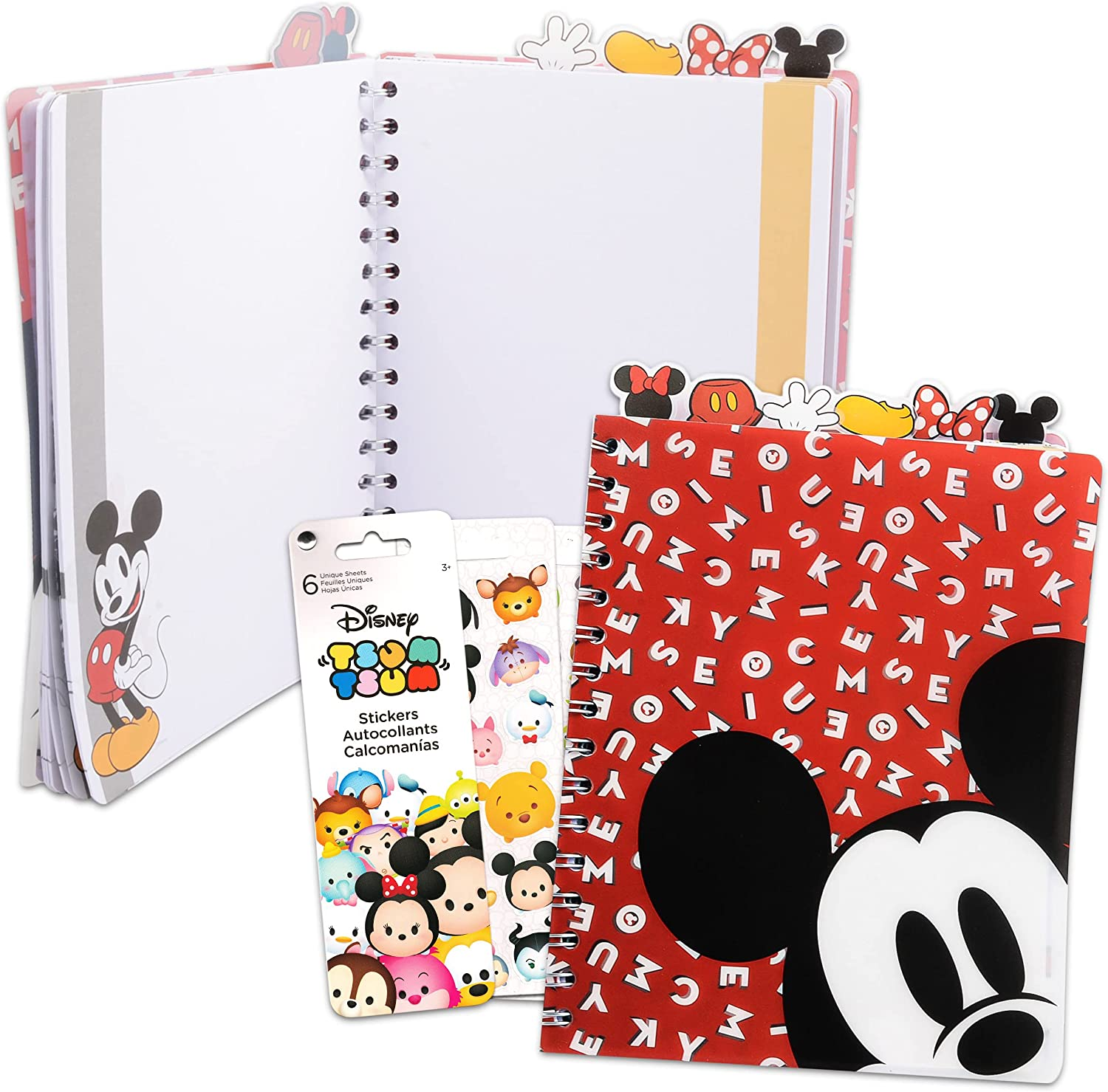 Mickey and Minnie School Supplies with Stickers Tsum Special Long Beach Mall price for a limited time Bundle