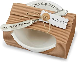 Mud Pie 4851031D Dip Bowl Set, Hooray