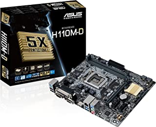 Asus H110M-D - Placa Base (2 x DDR4, HDMI, Intel H110, 2133 MHz, máximo 32 GB)