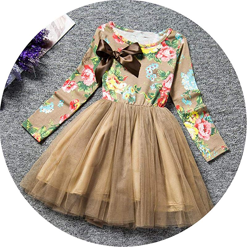 Petals Designs Girl Dress Children Party Costume Kids Formal Events Vestidos Infant Flower Dress Fluffy Wedding Gown 3 5 7T As Photo11 7
