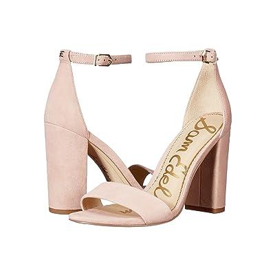 Sam Edelman Yaro Ankle Strap Sandal Heel (Seashell Pink Kid Suede Nubuck) Women