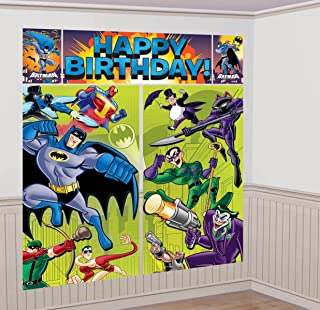 Batman Scene Giant Scene Setter Wall Decorating Kit (5pc)