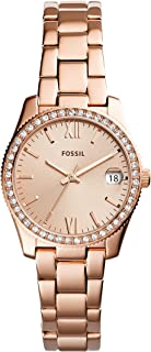 Fossil Womens Quartz Watch, Analog Display and Stainless Steel Strap ES4318